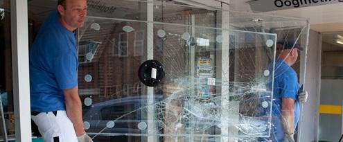 Herstel glasschade